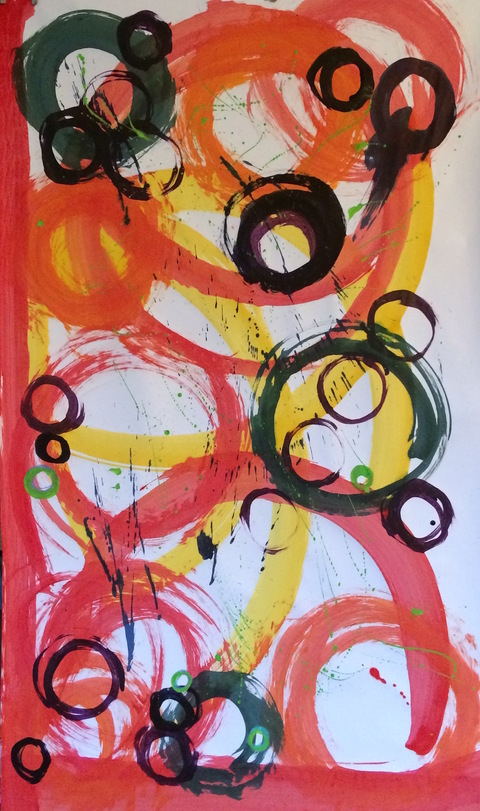 Full Circle mixed inks on paper