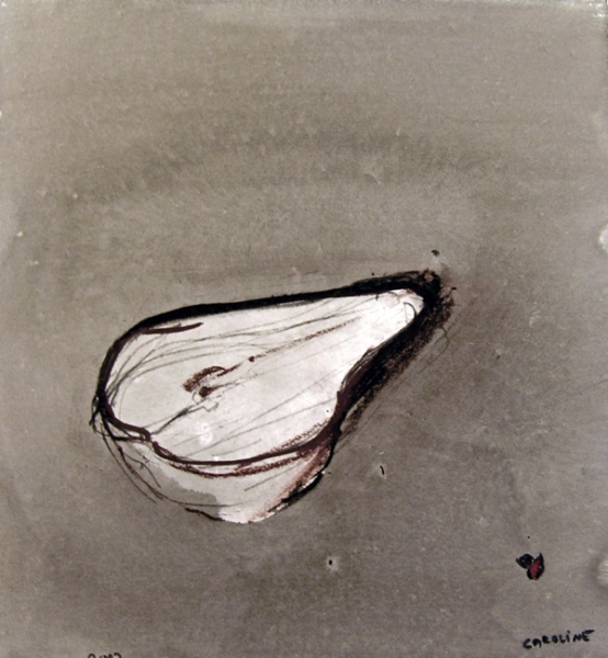 Dark Drawings The First Pear / La Fraiche Poire