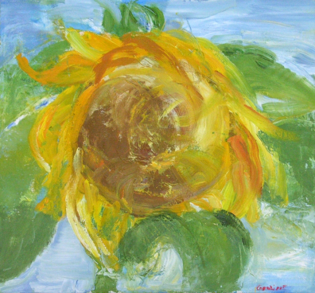 Painting Annabella Garibaldi: The Giant Sunflower