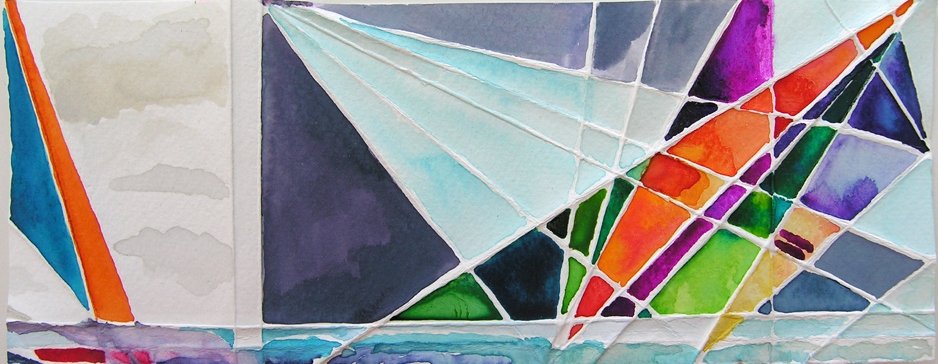 Sailing Stain Glass Sail