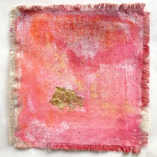 Caroline Tavelli-Abar on the fringe mixed media on linen