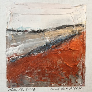 Carol Anna Meese Small Paintings acrylic and powdered pigment on linen