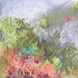 Carol Anna Meese Small Paintings oil pastel on paper