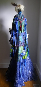 Carol Anna Meese Totems fabric, yarn, ribbons, paper,, threads, bells