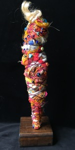 Carol Anna Meese Totems cotton fabric, yarn, beads