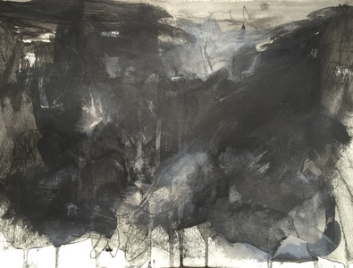 Carol Anna Meese Earth Series sumi ink, acrylic on paper