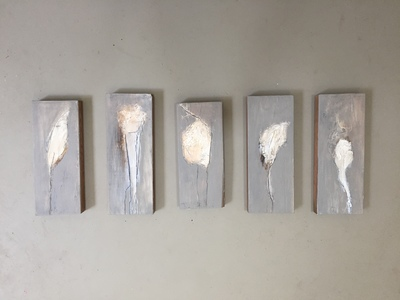 Carol Anna Meese Origins acrylic and plaster