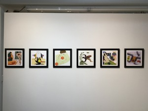Carol Radsprecher Exhibition Installation Photos Inkjet prints drawn in Photoshop (no scans or photos)