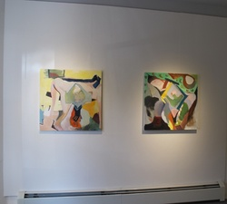 Carol Radsprecher Exhibition Installation Photos Oil paintings on canvas