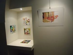 Carol Radsprecher Exhibition Installation Photos Ink-and-acrylic on Claybord(TM)