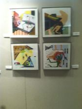 Carol Radsprecher Exhibition Installation Photos Inkjet prints drawn in Photoshop, limited editions of 25 each