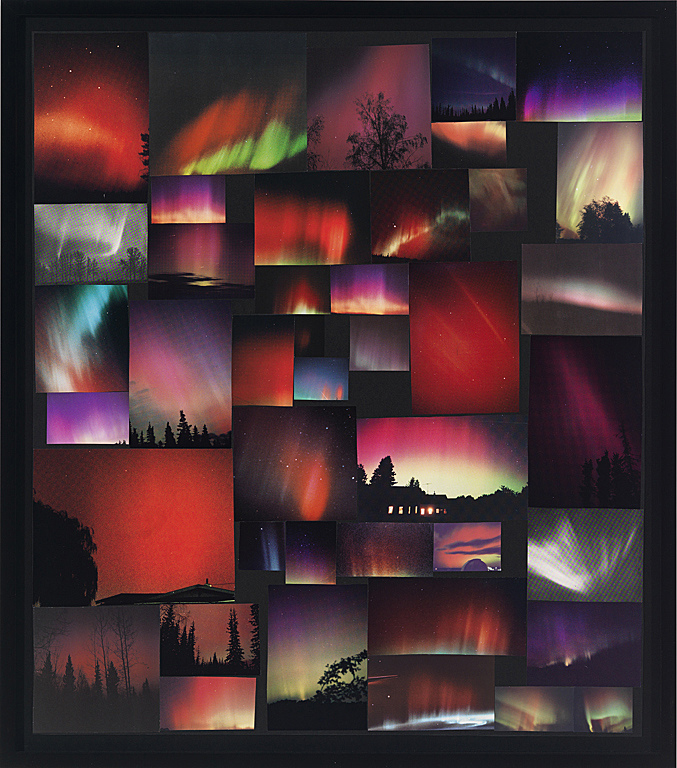 Collage Aurora Borealis (Red)