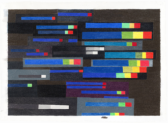 Carrie Gundersdorf Recent Work, 2012 - present colored pencil and watercolor/paper