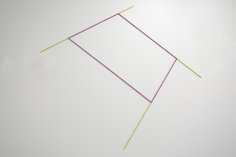 lines Untitled (Plum Chartreuse Geometry 1)