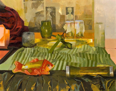 STILL LIFE Green painting