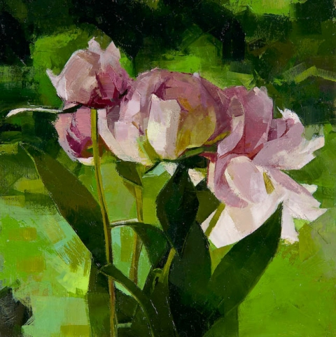 STILL LIFE Peonies (green)