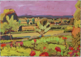 Catherine Drabkin Brittany gouache on paper
