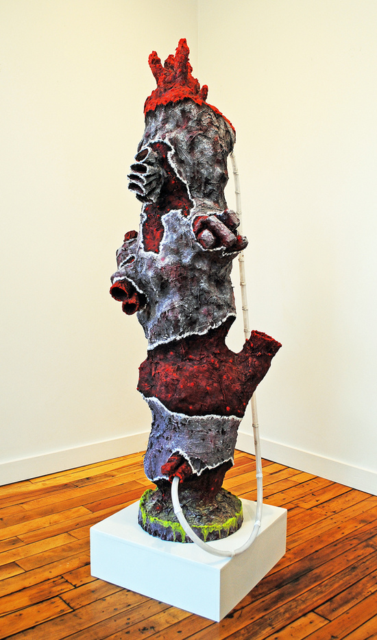 cathy wysocki SUFFER A SEA CHANGE - sculpture plaster, burlap, wire, concrete, tubing, cardboard, sand, marble dust,acrylic