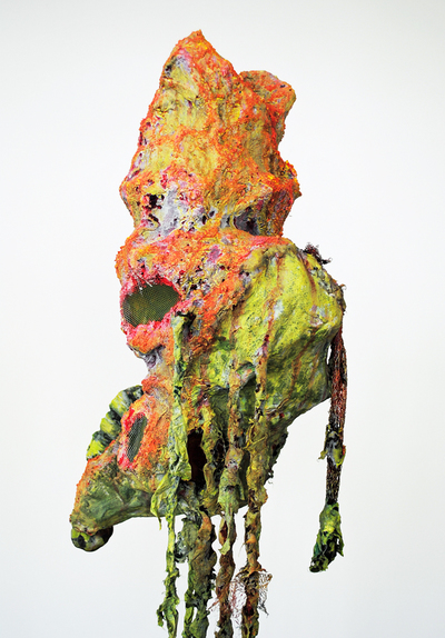cathy wysocki SUFFER A SEA CHANGE - sculpture plaster, wire, netting,cardboard, twine, lint,nylon,paper, acrylic ,marble dust