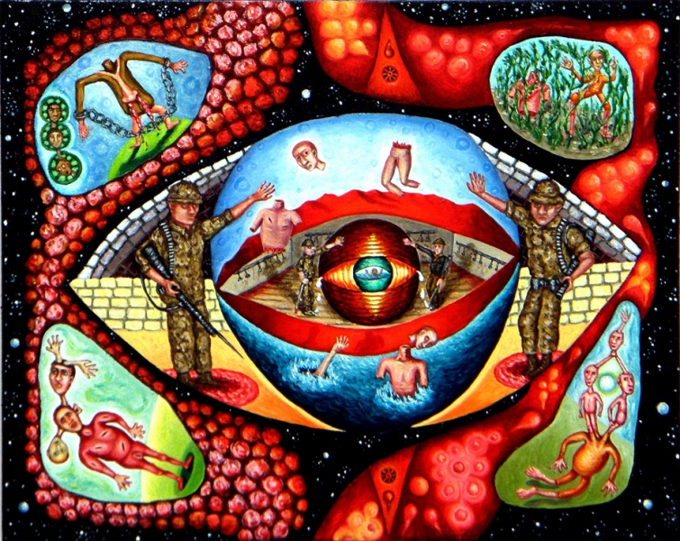 cathy wysocki POISONED WORLD oil on canvas