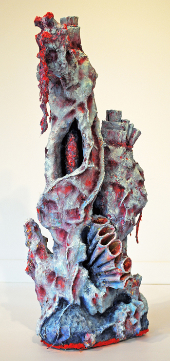 cathy wysocki sculpture concrete, plaster, wire, plastic, cardboard, lint, netting, twine, sand, marble dust, acrylic