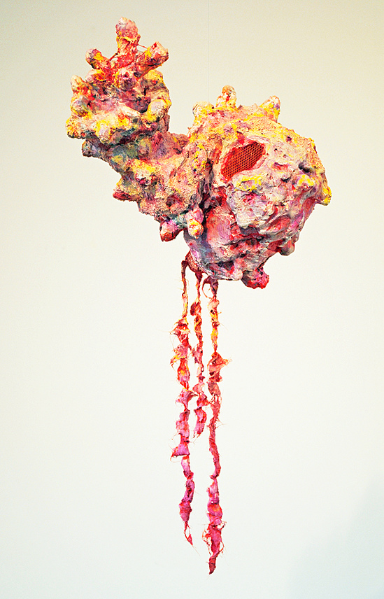cathy wysocki sculpture plaster,gauze, lint, sand, thread, wire, netting,acrylic, marble dust