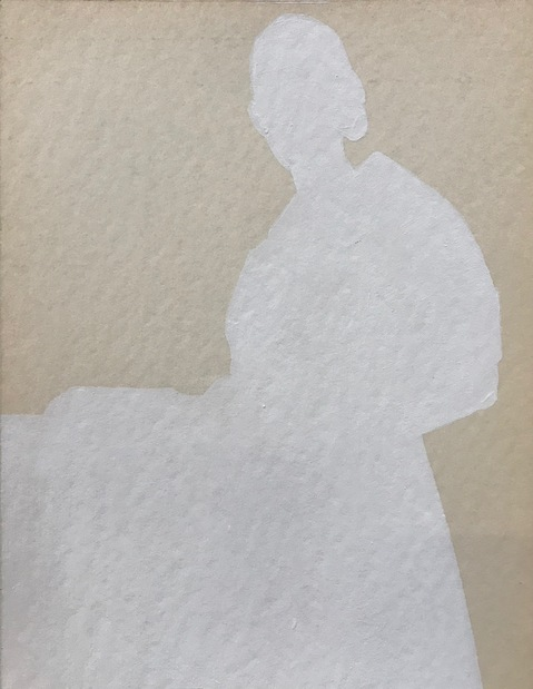 Cecilia Moy Fradet A Whiter Shade of Pale acrylic on antique watercolor paper