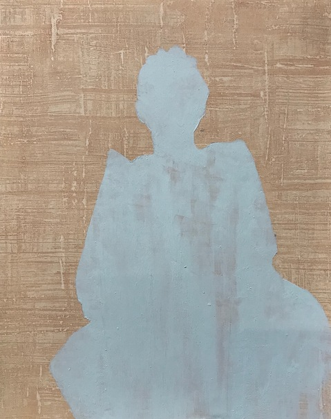 Cecilia Moy Fradet A Whiter Shade of Pale acrylic on wallpaper