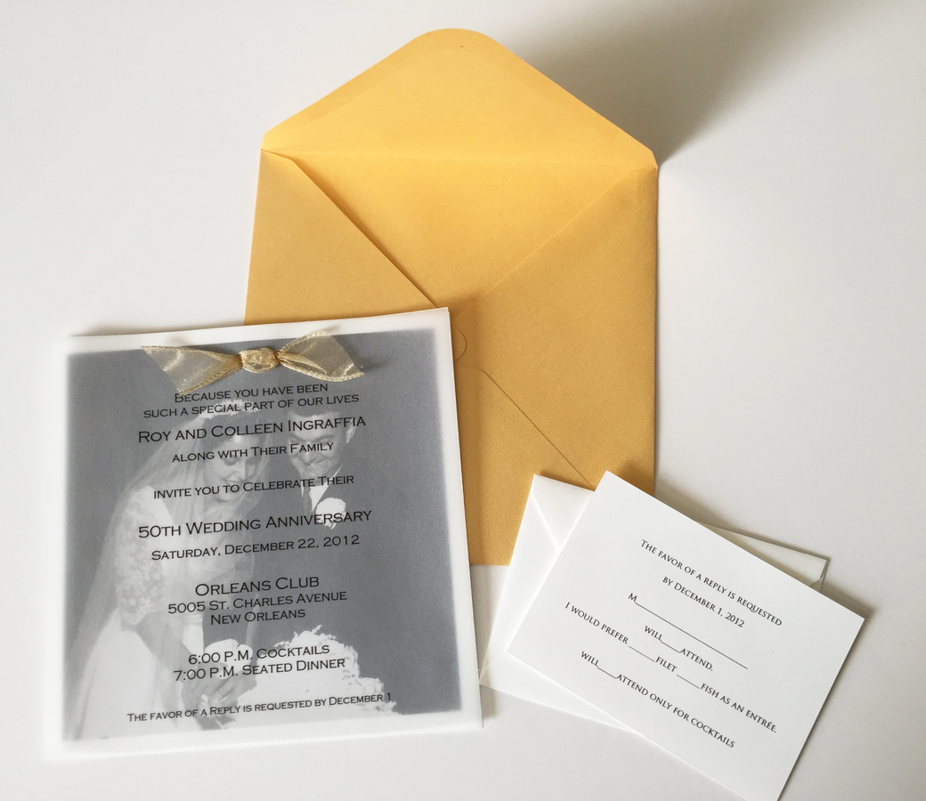 gallery ten twenty-two 50th anniversary invitation