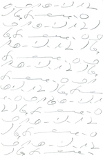 Shorthand Series graphite on paper