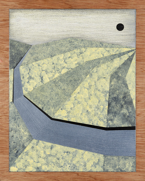 1. Works on Wood Untitled Abstract Landscape
