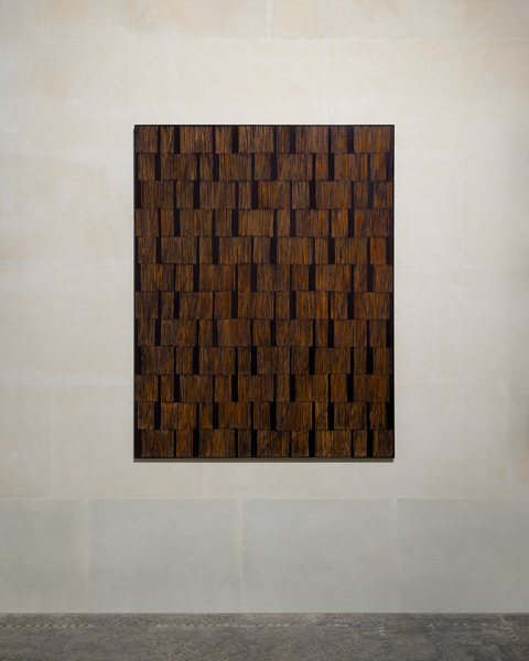1. Works on Wood Untitled Painted Relief