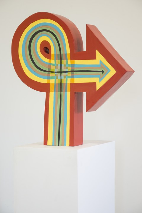 CHARLEY FRIEDMAN SCULPTURE Solid poplar and gouache