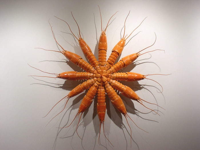CHARLEY FRIEDMAN GALLERY DIET 2008 lobster shells, clock motor