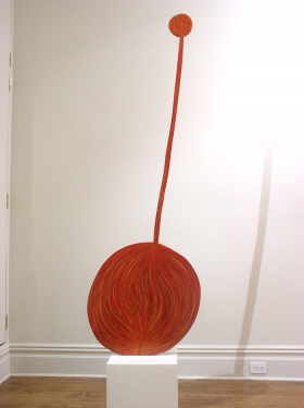 "CHARLEY FRIEDMAN INSTALLATIONS & SCULPTURES sculpture: 25""x80""x3/4"""