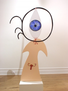 "CHARLEY FRIEDMAN INSTALLATIONS & SCULPTURES sculpture: 37""x62""x3/4"""