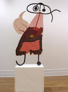 "CHARLEY FRIEDMAN INSTALLATIONS & SCULPTURES sculpture: 45""x57""x3/4"""