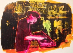 Charlie Ahearn Recent Silkscreen Paintings Acrylic Silkscreen Painting