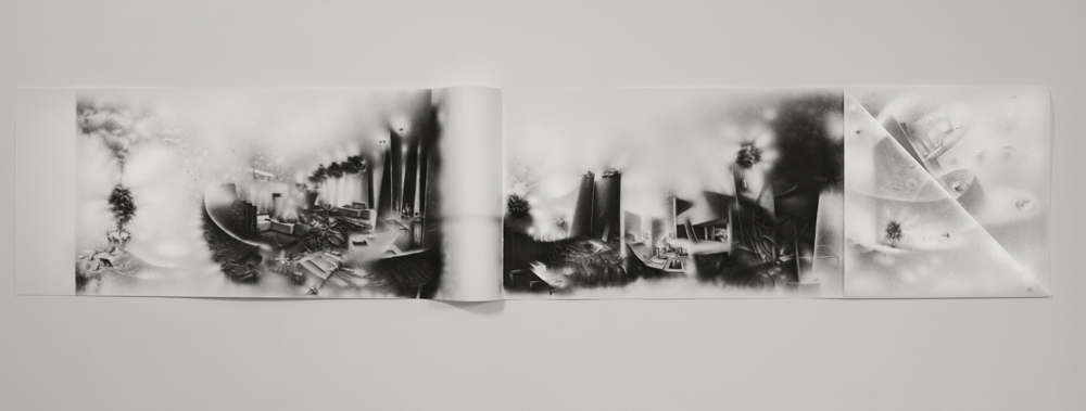 Charlotte Schulz The Impossibility of Keeping Borders<br/>2011-2012 charcoal on paper