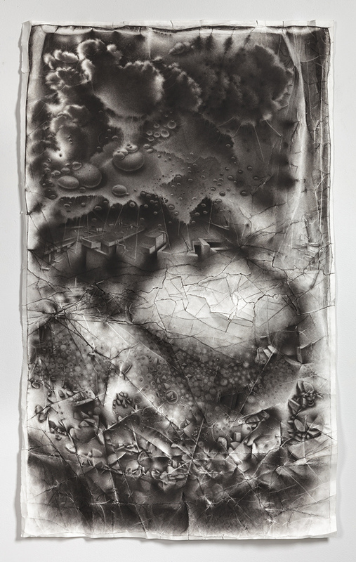 Charlotte Schulz Incursion of Otherness <br> 2013-2014 charcoal on paper