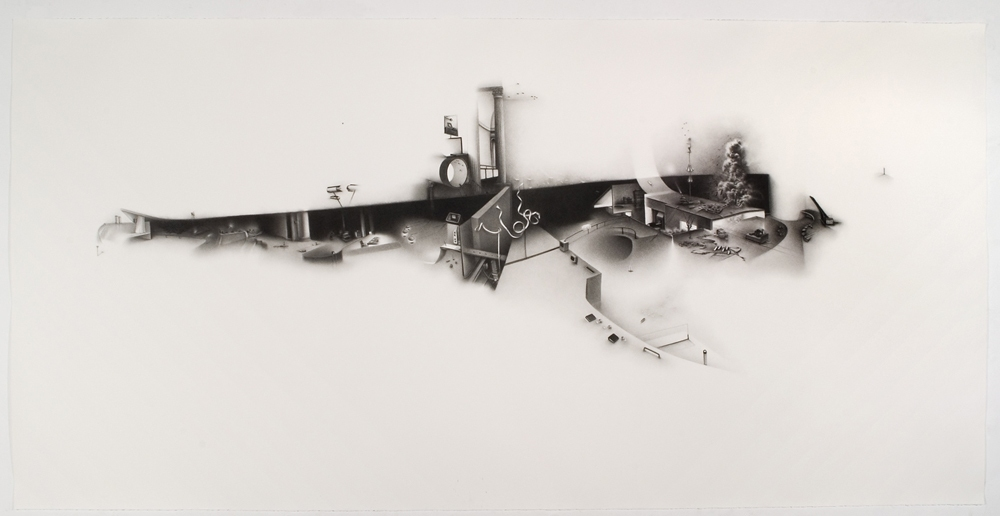 Charlotte Schulz Forgiving of an Inexactness<br> 2007 charcoal on paper
