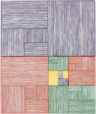 CHEYMORE GALLERY JAMES SIENA / VISUAL ALGORITHMS / March 27- May 4, 2013 10 color linocut