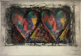 CHEYMORE GALLERY JIM DINE / Past is Present / October 15- December 17, 2016 Drypoint & direct gravure etching over offset lithograph with hand coloring