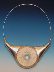 Chris Irick  Flight Series  sterling silver, brass