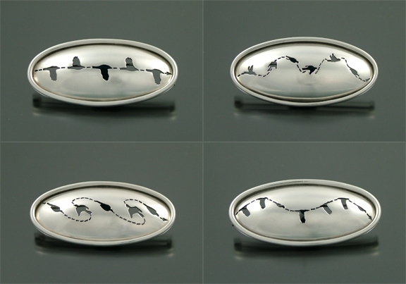 Chris Irick  Flight Series sterling silver, stainless steel