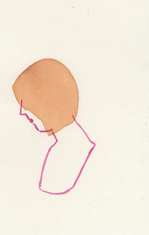 Christina Renfer Vogel Drawings ink and watercolor on paper
