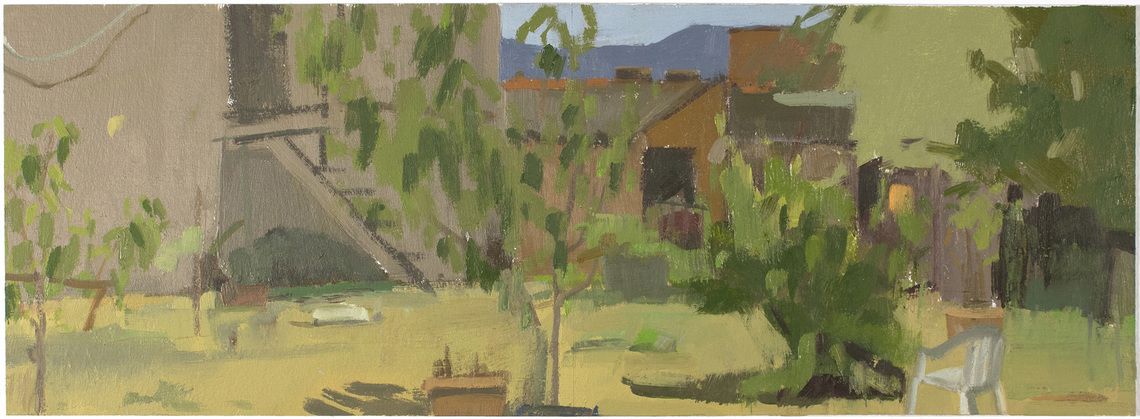 Christina Renfer Vogel Home and Away oil on paper