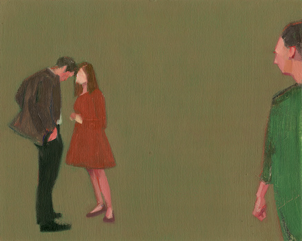 Christina Renfer Vogel Paintings oil on paper over panel