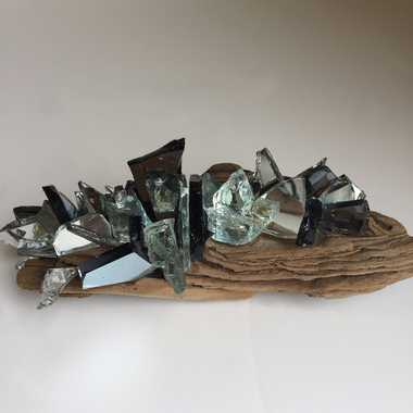 Christine Shannon Aaron Sculpture mirror, encaustic on found wood