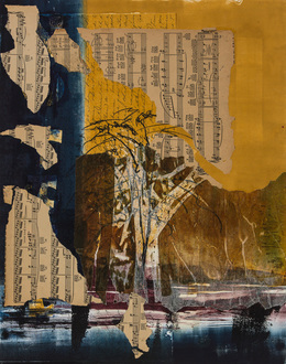 Christine Shannon Aaron Work on Paper monotype, collage